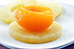 ананас персика Стоковые Изображения RF