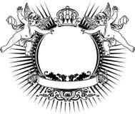 天使颜色二重奏一符号葡萄酒 免版税库存照片