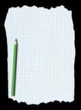бумажная приданная квадратную форму часть карандаша сорванной Стоковые Фотографии RF
