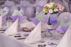 紫罗兰色婚礼 免版税库存照片