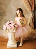 芭蕾舞女演员秀丽一点 免版税库存图片