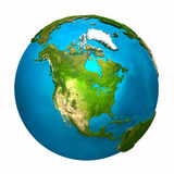 美国地球北部行星 免版税图库摄影