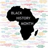 黑色拼贴画历史记录月 免版税库存图片