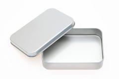 配件箱空的金属 库存照片