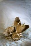 婚姻的鞋子 免版税库存照片