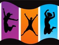 вектор партии иллюстрации рогульки диско предпосылки Стоковые Изображения