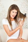 头发问题妇女年轻人 库存图片