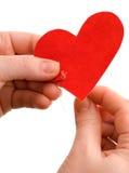 вручите сшитое сердце Стоковая Фотография RF