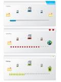 复制文件指示符进展视窗 免版税库存照片
