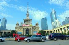中心陈列上海 免版税图库摄影