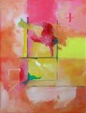 抽象派背景现代绘画 免版税库存照片