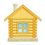 房子图标日志 免版税库存图片