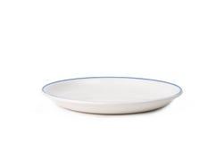 λευκό πιάτων Στοκ Φωτογραφία