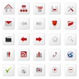 сеть иконы установленная Стоковое Изображение