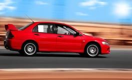 汽车红色体育运动 免版税库存照片