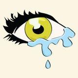 动画片哭泣的眼睛 库存图片