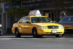 Κίτρινο ταξί Στοκ Εικόνες