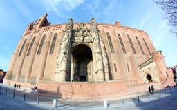 阿尔比大教堂法国遗产站点科教文组&# 免版税库存照片