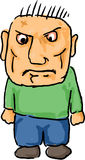 сердитый человек шаржа Стоковое фото RF
