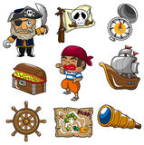 пират иконы шаржа Стоковое Изображение RF