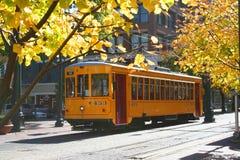 желтый цвет вагонетки Стоковое Изображение