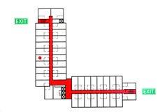 непредвиденный маршрут побега Стоковое Изображение RF