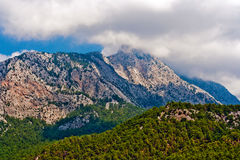 通配峡谷的山 图库摄影