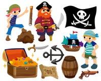 пират иконы шаржа Стоковое Изображение