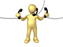 τηλεφωνική υποστήριξη Στοκ εικόνες με δικαίωμα ελεύθερης χρήσης