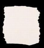 бумажная приданная квадратную форму часть сорванной Стоковое Фото