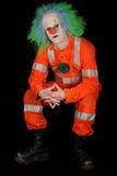 哀伤的邪恶的小丑 图库摄影