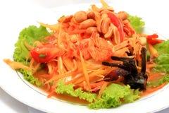 салат папапайи тайский Стоковое Изображение RF