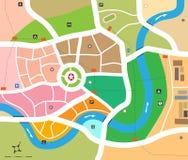 城市映射向量 库存照片