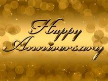 Счастливая годовщина Стоковое Изображение