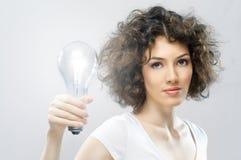 有启发性的电灯泡 免版税库存图片