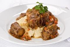 牛尾炖煮的食物 免版税库存图片