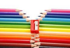 φερμουάρ μολυβιών Στοκ Εικόνα