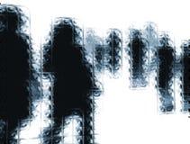 абстрактные люди предпосылки Стоковые Фотографии RF