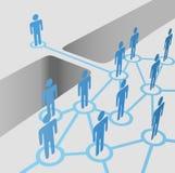 桥梁连接空白参加合并网络人小组 免版税图库摄影