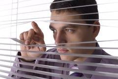 смотреть окно офиса Стоковая Фотография RF