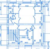 план дома Стоковые Изображения RF