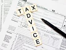 忠告税务 图库摄影