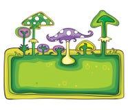 横幅蘑菇 免版税库存照片