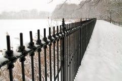 中心城市新的公园冬天妙境约克 库存照片