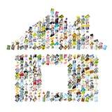 房子符号 库存照片