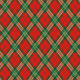 красный цвет шотландки Стоковое Фото