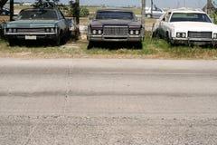 美国汽车汽车使用了葡萄酒 免版税库存图片
