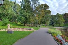 城市拉脱维亚公园里加 免版税库存照片