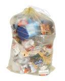 回收黄色的袋子德语 免版税库存照片