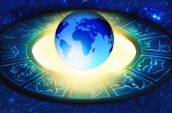 占星术世界 库存照片